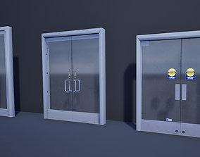 3D asset VR / AR ready Commercial Glass Doors