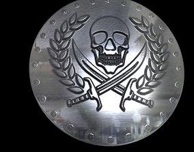 3D print model pirate coin