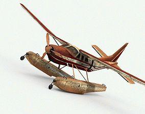 3D asset Damage Airplane