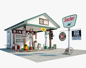 3D model Sinclair gas station