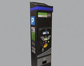Parking Meter 3D asset game-ready