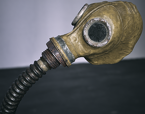 3D asset game-ready Gas Mask