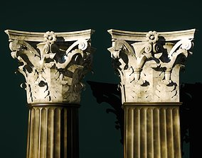 3D model Classical corinthian column and pillar