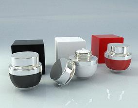 3D model Cosmetic Jar Cream Tube - Box
