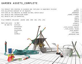 garden assets 3D model