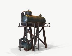 3D asset Water Tank Tower