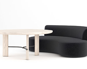 3D model Christophe Delcourt Lek sofa with Hub and Ope