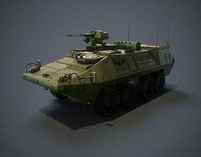 Stryker vehicle with interior 3D asset