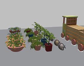 Garden Itens decor pack 3D model
