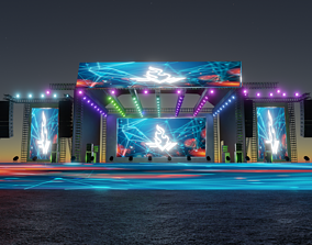 3D model exterior Concert Stage