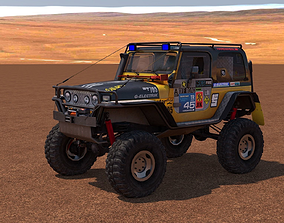 Jeep Wrangler Custom Off-Road 3D asset