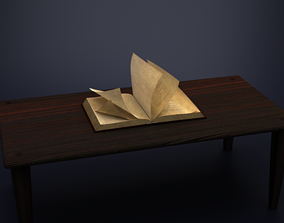 Rigged Animated Book hardcover 3D