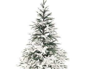 Spruce Tree with Snow 1point5m 3D model