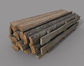 3D model Wood logs B
