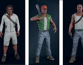 Modern character 3D model
