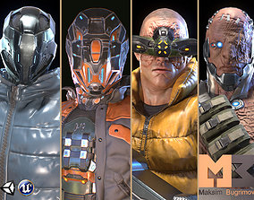 3D model Cyber Charaters Pack