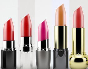 Lipsticks collection 3D model