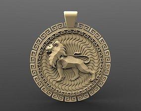 Lion pendant 3 3D printable model