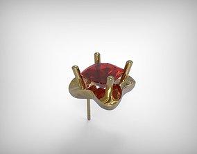 3D print model Golden Jewelry Earrings Encrusted Ruby