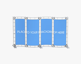 Backdrop 8ft x 20ft Truss Backwall Display Curved 3D model