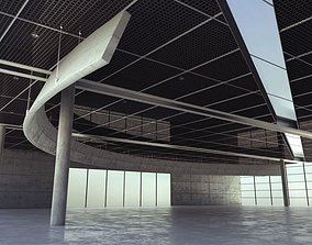interior Spacious Parking Lot Garage 3D model