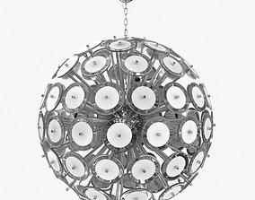 3D model Italian White Murano Glass Disco Sputnik