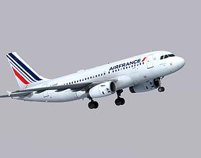 3D asset Airbus A319 Air France
