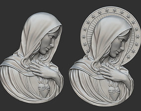 Virgin Mary with Sacred Heart Pendant 3D printable model
