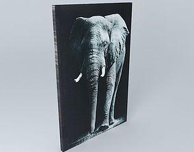 3D model Elephant Canvas