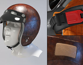 Retro Motorcycle Helmet 3D