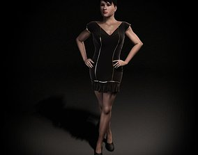 Woman Character In A Short Dress 3D