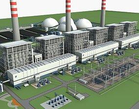 3D model Power plant station