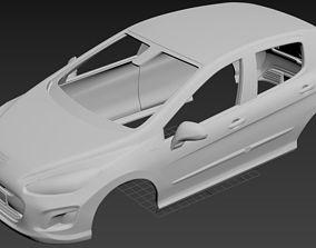 Peugeot 308 Printable Body Car