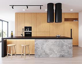 Modern kitchen 3 3D miele