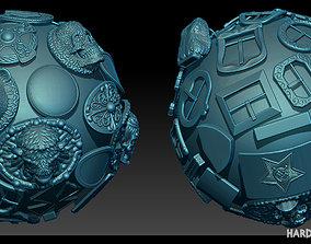 3D asset Hard Surface plaques Zbrush