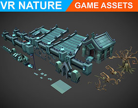 Lowpoly Tomb Pack 180703 3D asset