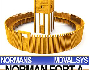 exterior Medieval Norman Fort 3D