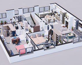 lumion 8 full scene model with setting 3D asset