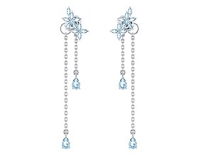 3D print model Earrings studs with hanging elements