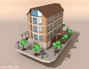 Cartoon City Building 3D model