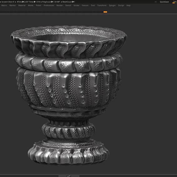 classic vase 3d print model