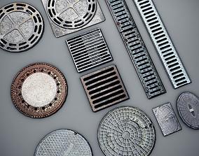 3D model Manhole Covers