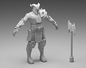 Warrior Low Poly 3D model