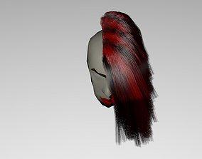 3D asset HAIRSTAILE original red