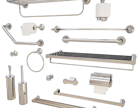 Bathroom Accessories Coralais 3D model