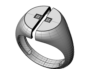 gold Simple ring with princess 3D print model