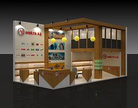 Exhibition Stall Size 10 m x 5 m Height 500 cm 3D