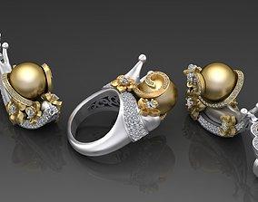 Headset Snails earrings 3D printable model