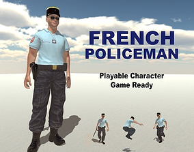 French Policeman 3D model