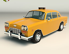 3D model low-poly Low Poly Taxi Cab 01